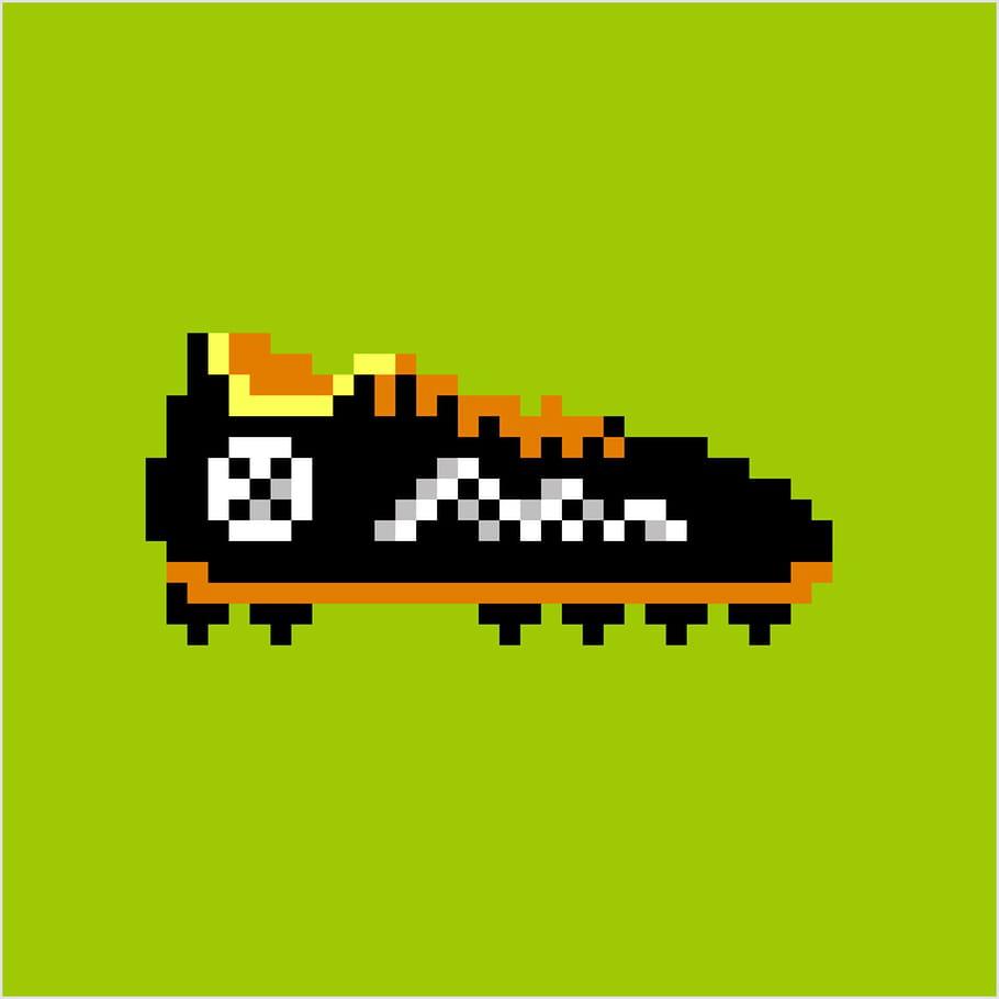 Chaussure De Football En Pixel Art