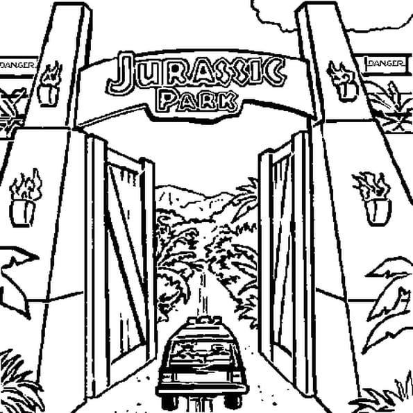 Coloriage Jurassic Park en Ligne Gratuit à imprimer