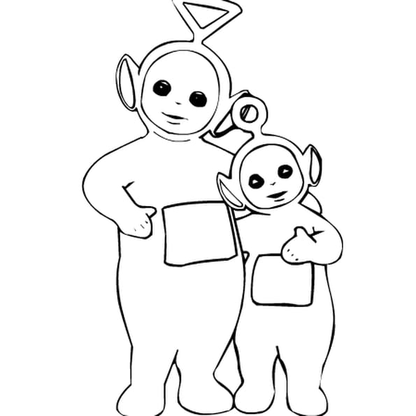 Dessin teletubbies a colorier