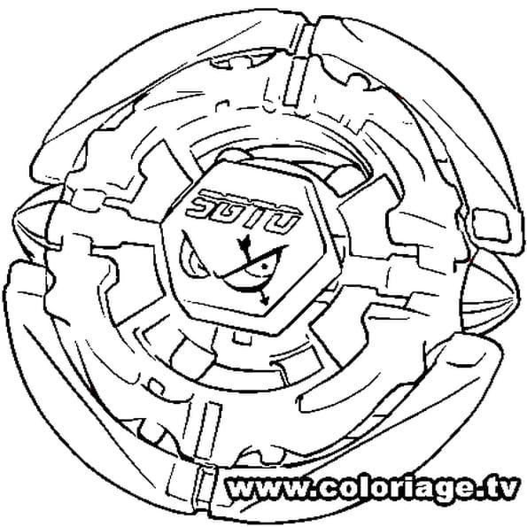 Coloriage Beyblade sagitario en Ligne Gratuit à imprimer