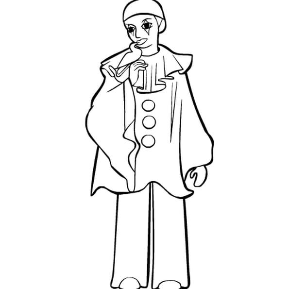 Pierrot coloriage pierrot en ligne gratuit a imprimer - Dessin de pierrot ...