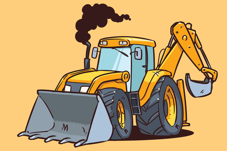 Coloriage engins de chantier sur - Dessin de camion a imprimer ...