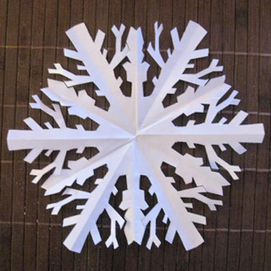 Flocons de Noël en papier