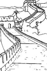 Coloriage muraille de Chine en Ligne Gratuit à imprimer