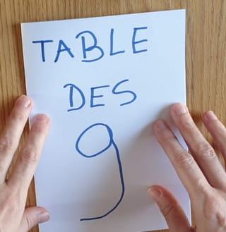 Toute la table de 9