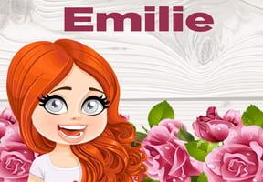 Émilie : prénom de fille lettre E