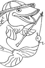 Coloriage poisson pêcheur en Ligne Gratuit à imprimer
