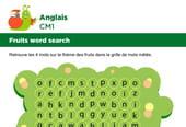 Apprendre des mots en Anglais, les fruits série 1