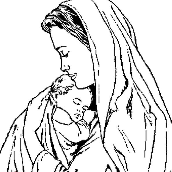 Coloriage Maman en Ligne Gratuit à imprimer