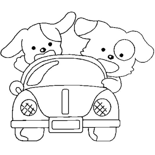 Dessin de voiture a colorier