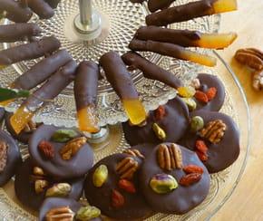 Mendiants et orangettes de Noël