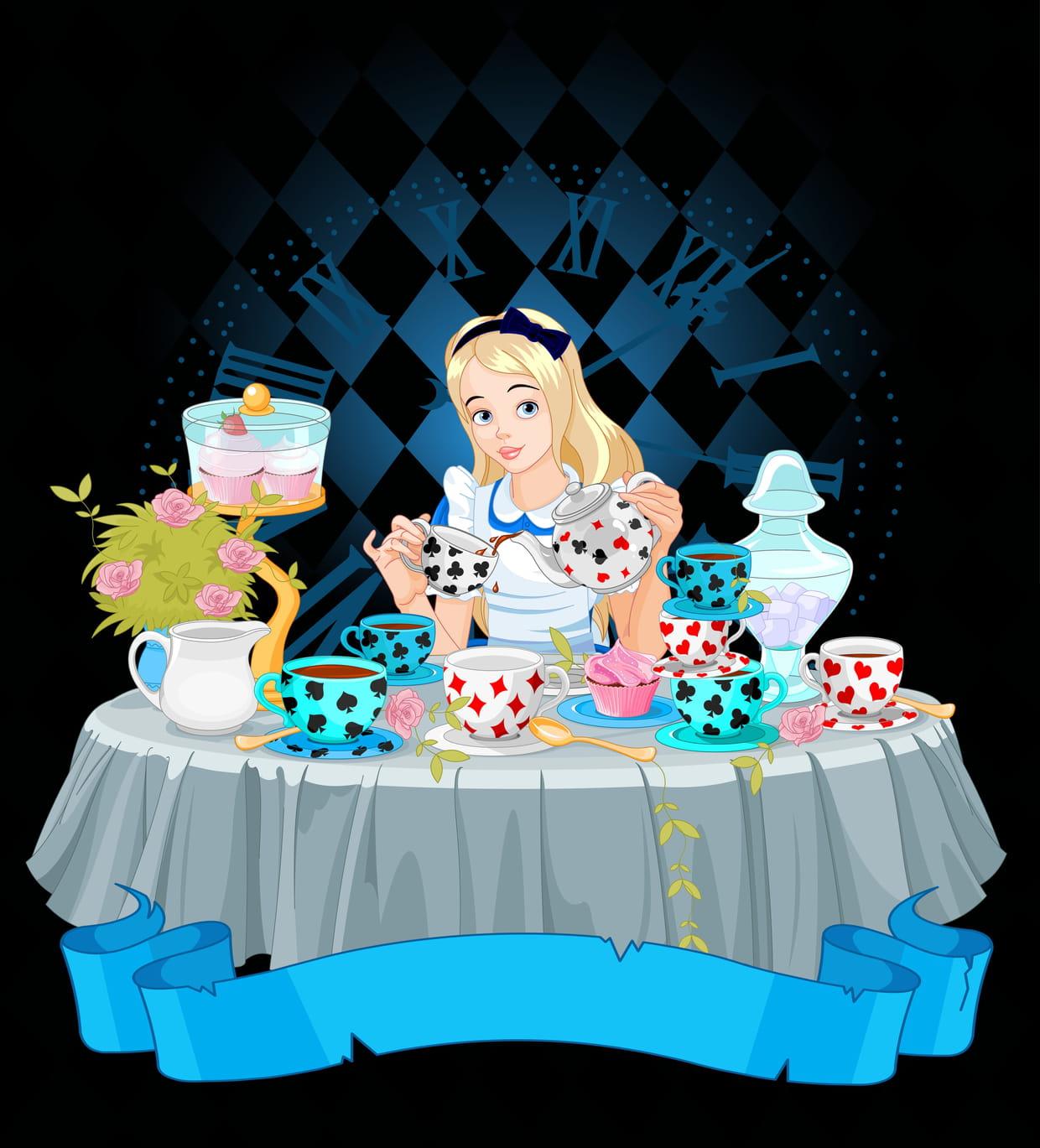 Coloriage Alice Au Pays Des Merveilles Sur Hugolescargot Com