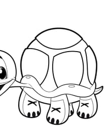 Coloriage Tortue Sur Hugolescargot Com