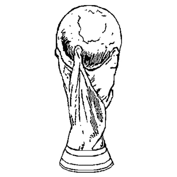 Dessin Coupe du Monde a colorier