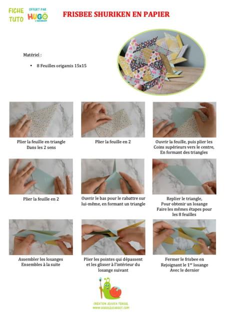fabriquer-un-frisbee-shuriken-en-papier-en-origami