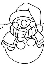 Coloriage dessin bonhomme de neige en Ligne Gratuit à imprimer