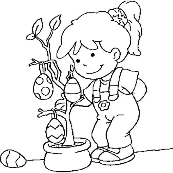 dessin de pques a colorier