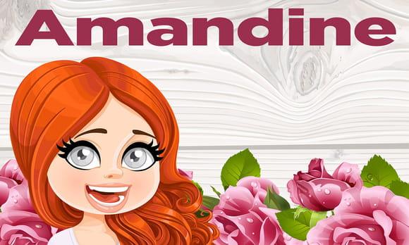 Amandine : prénom de fille lettre A