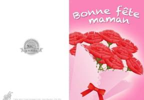 Carte fête des mères bouquet de rose