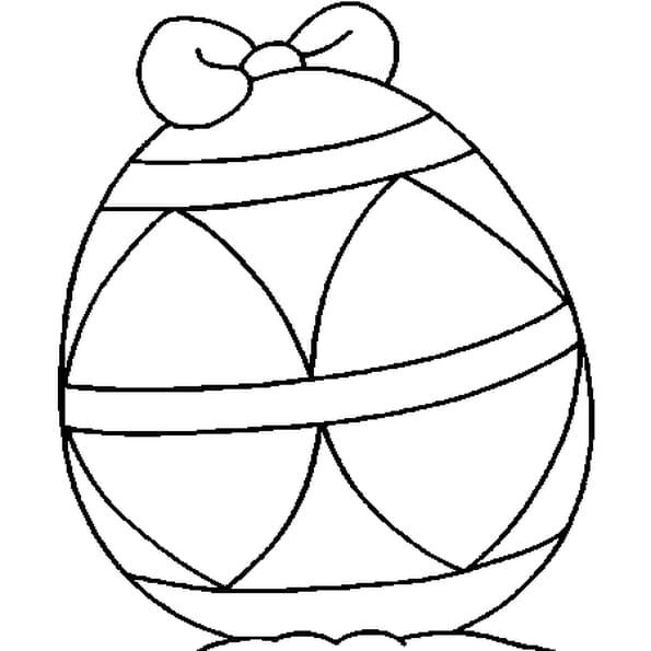 Dessin De Pâques oeuf a colorier