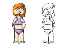 Paper doll fille rousse