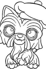 Coloriage Pet Shop chien 3