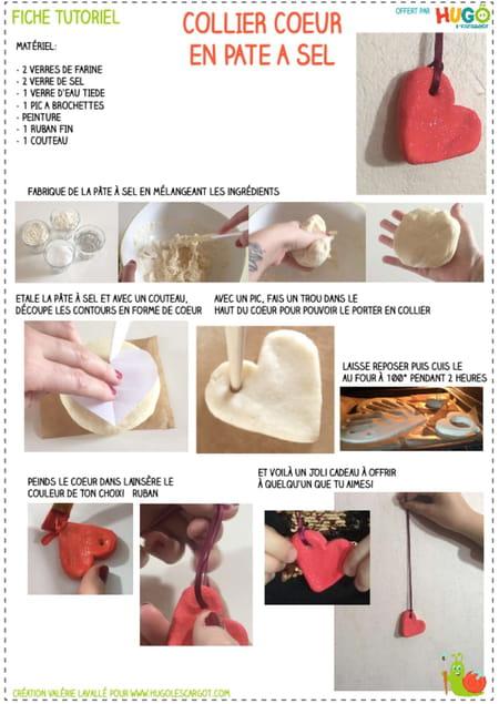 fabriquer-un-collier-cœur-en-pate-a-sel