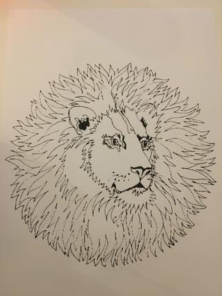 Etape 1: imprimer un coloriage de lion