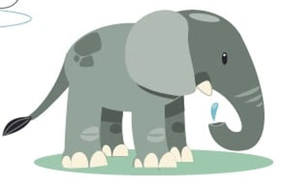 Top Coloriage Elephant sur Hugolescargot.com HP67