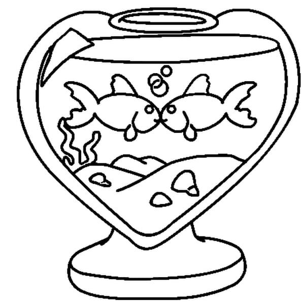 Dessin saint valentin a colorier