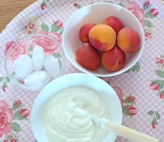 Les ingrédients du smoothie au yaourt