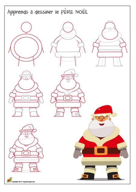 Dessiner Le Pere Noel