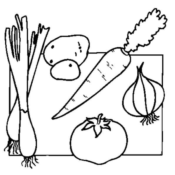 Coloriage Légumes en Ligne Gratuit à imprimer