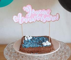 Décoration de gâteau, un topper Joyeux Anniversaire
