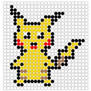 Perles à repasser: Modèle Pikachu