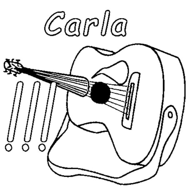 Dessin Carla a colorier