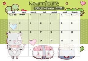 Nourriture Kawaii: calendrier 2022