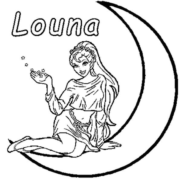 Coloriage Louna en Ligne Gratuit à imprimer