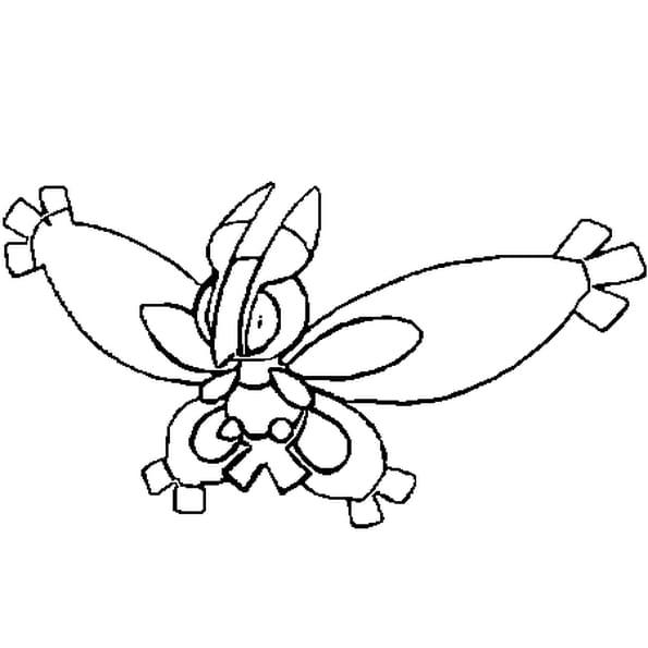 Dessin Pokémon Papilord a colorier