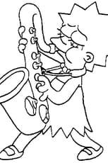 Coloriage saxophone en Ligne Gratuit à imprimer