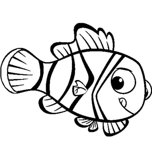 Coloriage poisson d'avril 4