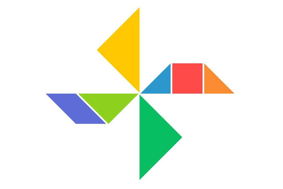 Le tangram niveau facile, un moulin