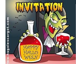 Carte invitation Halloween Dracula