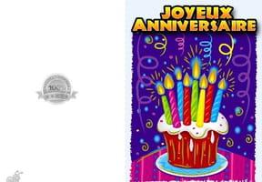 Carte joyeux anniversaire gâteau 8bougies