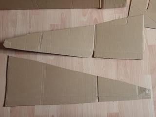 Étape 2: fabriquer les côtés du toit de la cabane
