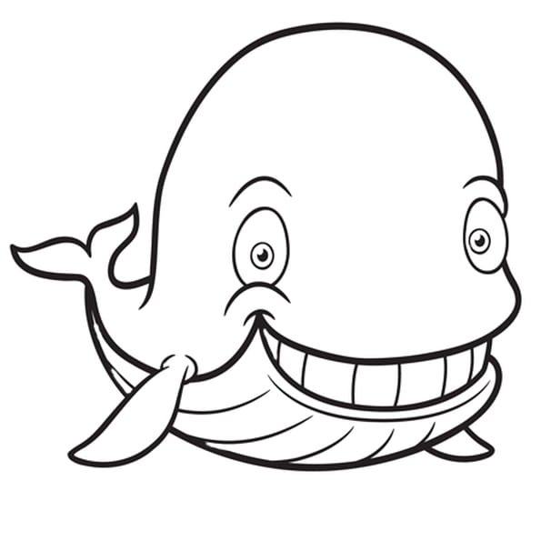 Coloriage Baleine en Ligne Gratuit à imprimer