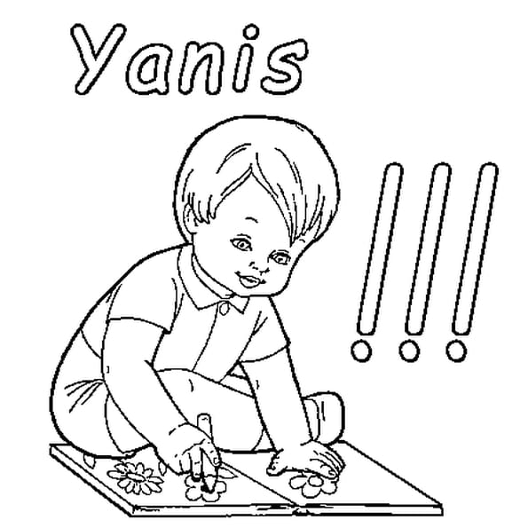 Dessin Yanis a colorier