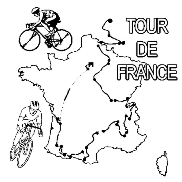 Dessin Du Tour de France a colorier