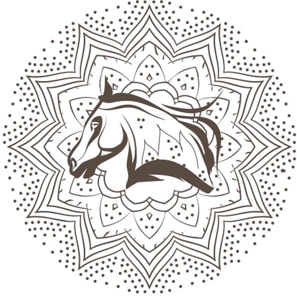 Coloriage mandala cheval en ligne gratuit imprimer - Mandala de chevaux ...