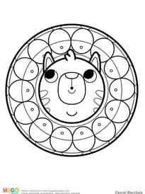 Mandala chat, pour les petits